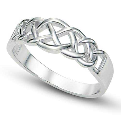 Metal Factory Sz 9 Sterling 925 Silver Celtic Knot Band Ring 925 Silver Celtic Knot