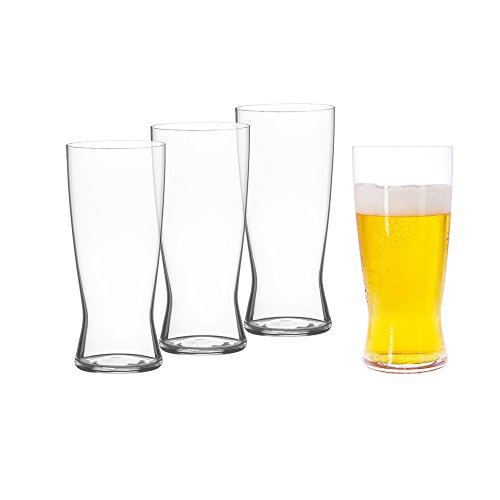 Spiegelau Classics Lager Beer Glasses - (Set of 4, Clear - Pilsner Germany