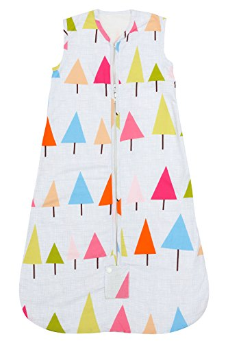 Newborn Baby Girls Sleeveless Sleeping Bag Colorful Trees 100% Cotton Sleep Sack for Baby Girls Sleep Suit Baby Gifts for infants and babies 0-12 months– Kiddy Bird by Kiddy Bird