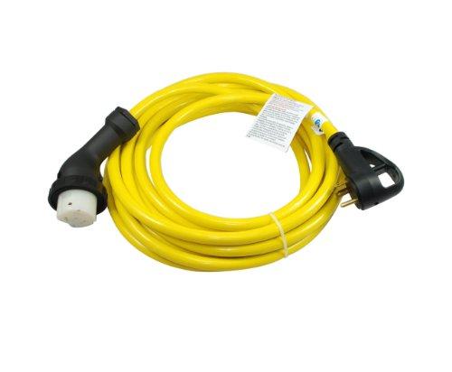 Grip Elbow - Conntek 15435-MEC2RE 25-Feet RV 30A with ergo grip to 50A Elbow Locking Connector