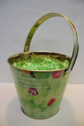 Department 56 Snowbunnies Tin Bucket with Handle