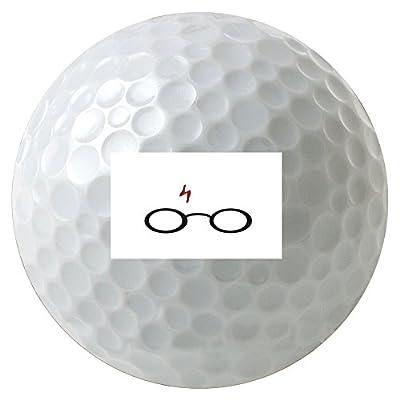 Glasses and Lightning Print 3-Pack Printed Golf Balls