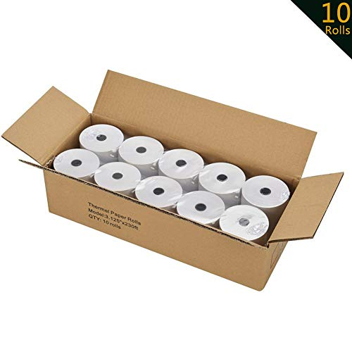 3 1/8 Thermal Paper 10 Rolls for POS Cash Register Receipt Paper Roll 1-Ply Bond((3-1/8