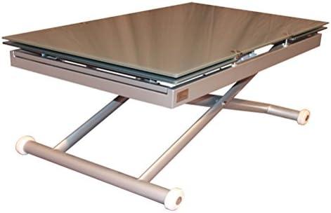 RR Design - Mesa de cristal para salón Jordan ampliable y ...