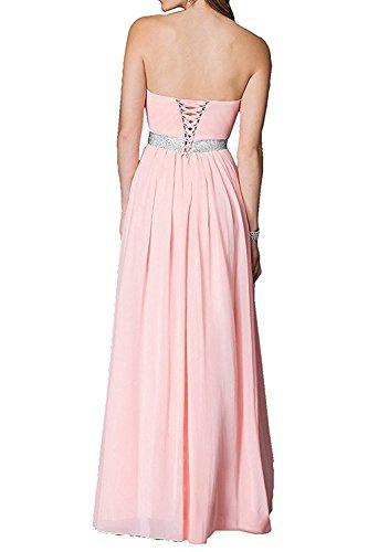 Promkleider La mia Linie Braut Tanzenkleider Abschlussballkleider Weiss Blau Chiffon Lang Ballkleider Abendkleider Herrlich A w0WrWBqnf