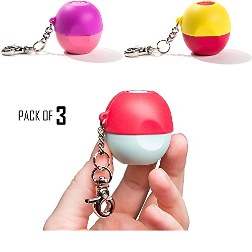toga-holder-and-keychain-for-eos-lip-balms-pack-of-3-no-balm-included