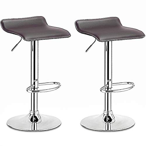 BestMassage Modern Adjustable Synthetic Leather Swivel Bar Stools Chairs Sets of 2