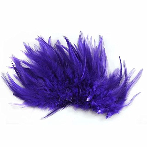 Celine lin 100PCS Saddle Hackle Rooster Feathers Natural, used for sale  Delivered anywhere in Canada