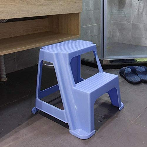 Kneeling Chair Step Ladders Child Plastic Step Stool Household Bathroom Shoe Bench Thicken Double Layer Footstool Ladder Stool QIQIDEDIAN