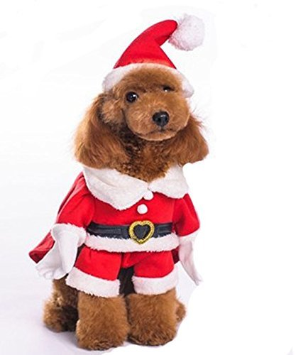M Sabart Pawz Road Pet Classical Christmas Costumes With Hat (For Small&medium Dog cat) ( Size   M )