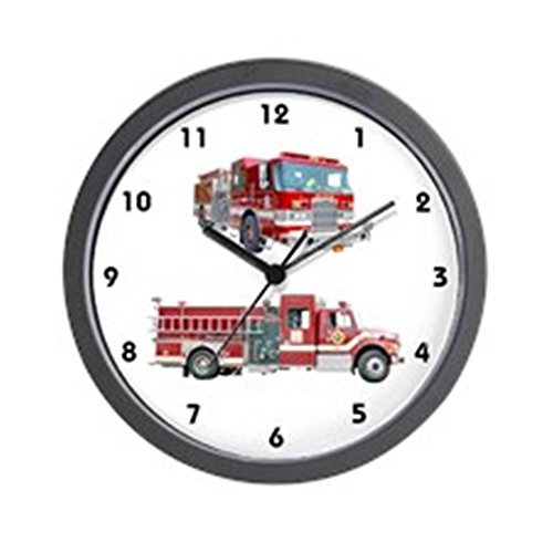 "CafePress Fire Truck Unique Decorative 10"" Wall Clock"