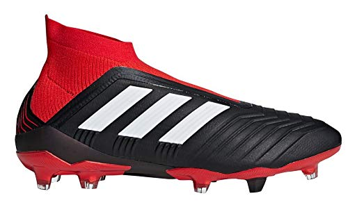 adidas Men's Predator 18+ FG Soccer Cleat, 9.0 D(M) US, Core Black/Cloud White/Red