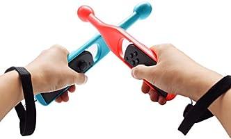 Jazane Bastón de Tambor para Nintendo Switch Joy con Controlador de empuñaduras con Correas de Mano para Taiko Drum Games Durm Hammer (Paquete de 2, Azul y Rojo): Amazon.es: Electrónica