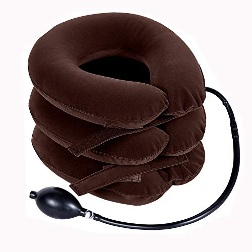 Ohuhu Neck Cervical Traction Collar Device For Neck Shoulder Back Head Pain Relief Inflatable Spine...