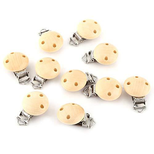 10 stks fopspeen clip houten fopspeen ketting clips set ronde bretels clips voor het maken van fopspeen bijlagen…