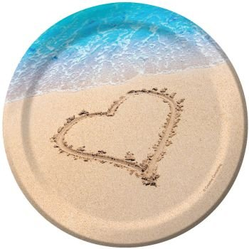 Love Lunch Napkins - Beach Love Lunch Dessert Plate 6 7/8