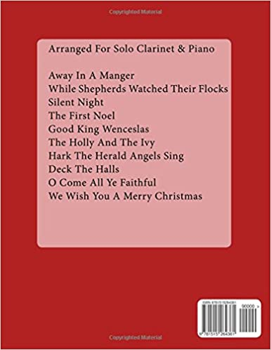 20 Christmas Carols For Solo Clarinet Book 1 Easy Christmas Sheet Music For Beginners Volume 1
