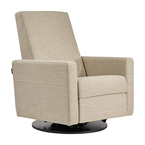 Dutailier Swivel Glider - Dutailier Minho 0438 Upholstered Glider Recline and Swivel with Built-in Footrest