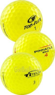 100 Mint Yellow Mix Used Golf Balls AAAAA - 8+ Dozen
