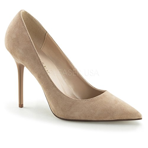 Nude Suede Pleaser Clas20 Pump Women's HP Dress xqTY6AwXTn