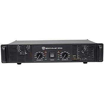 Rockville Rpa5 1000 Watt Peak 500w Rms 2 Channel Power Amplifier Pro Dj Amp