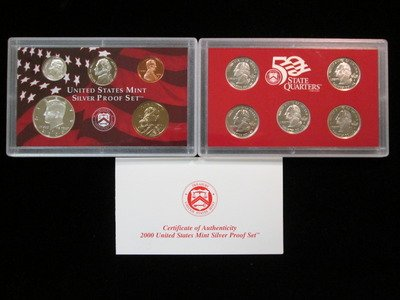 2000 S Silver Proof Set 10 Coin Set (2000 Proof Set)
