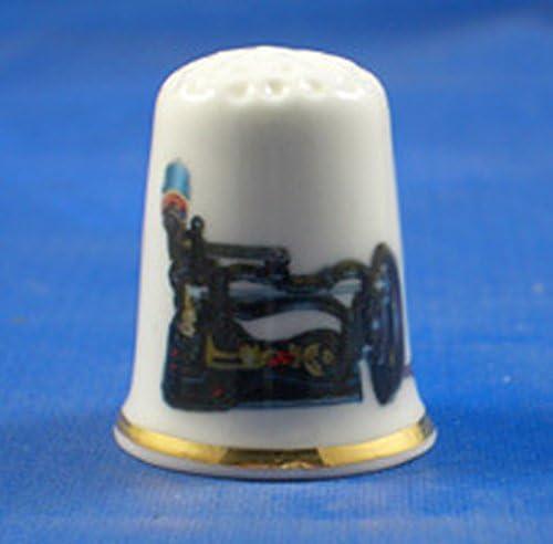 Para porcelana Coleccionable de arma de juguete dedal estilo antiguo para máquina de coser: Amazon.es: Hogar