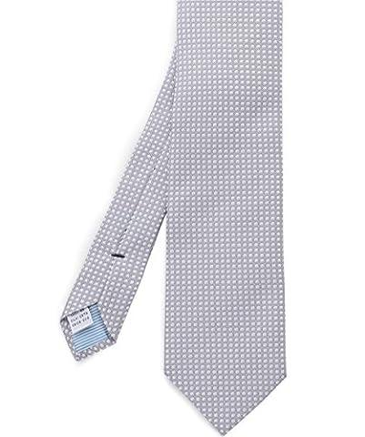 Stenstroms Men's Silk Circle Print Tie Gray One Size - Circle Print Tie