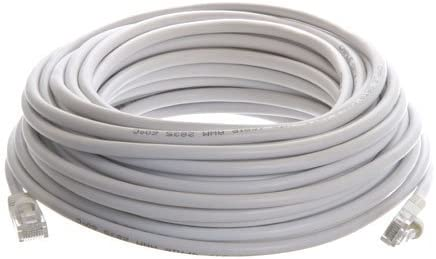 White Ethernet Network 50 Feet CAT5 CAT5e RJ45 Cable