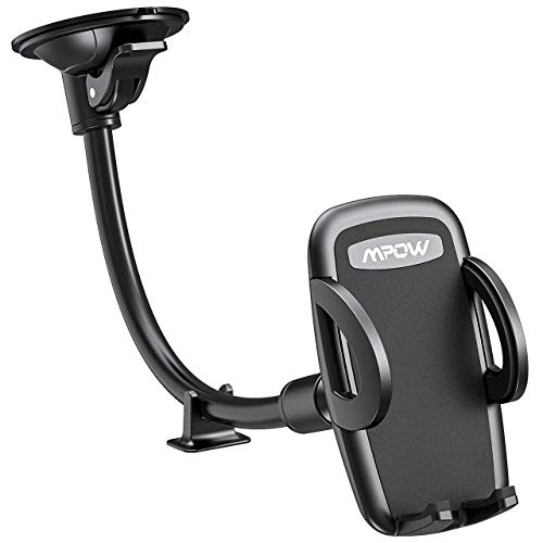 Mpow 073AB Windshield Car Phone Mount, Cell Phone Holder for Car, Long Arm Car Phone Mount Compatible iPhone Xs,Xs Max,Xr,X,8,7 Plus, Galaxy S10,S9,S8, Google, LG, Huawei and More