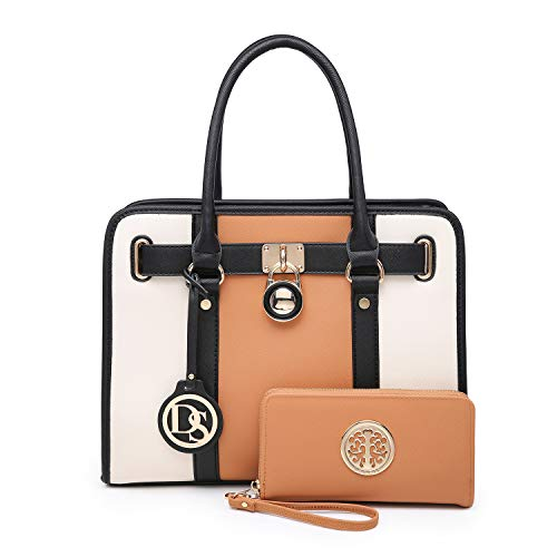 MMK collection Fashion Handbag with coin purse(XL-11) Classic Women Purse Handbag for Women` Signature fashion Designer Purse ~ Perfect Women Satchel Purse (XL-02-7103W-BR/BG)