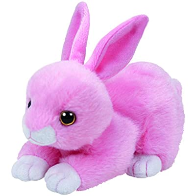 Ty Walker Pink Bunny Plush, Light Pink, Regular: Toys & Games