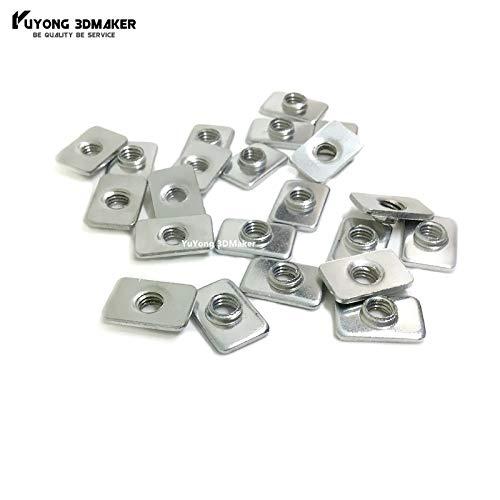 3D Printer - 1000pcs/lot M5 Zinc Plated Tee Nuts for v-Slot Aluminum Profile Accessories