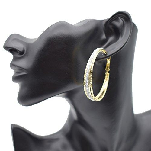 S&Moon Bling Womens Round Circle Hoop Earrings Huggie Loops