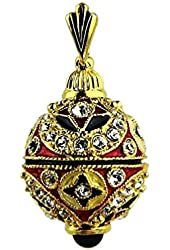 EASTER EGG PENDANT CHARM STERLING SILVER 24K GOLD PLTD SWAROVSKI NEW USA # 5
