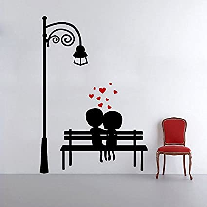 Decor Kafe Home Decor Couple Love Wall Sticker, Wall Sticker For Bedroom, Wall  Art