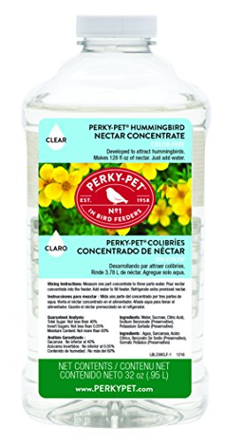 Perky-Pet 238CL Clear Hummingbird Nectar 32 oz Concentrate - Makes 128 fl oz