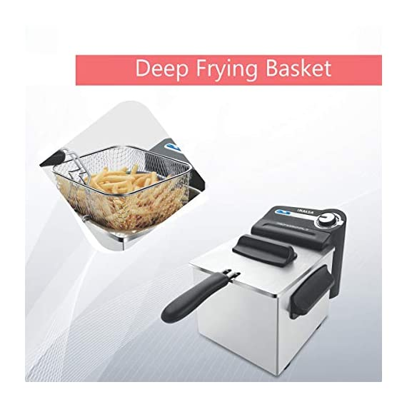 Inalsa Professional 2 Fryer, 18/8 Steel, 2 Liter, Digital Timer, 1700 W, Detachable, Dishwasher Safe, European Energy Efficiency Standard, Stainless Steel, (Grey) 3