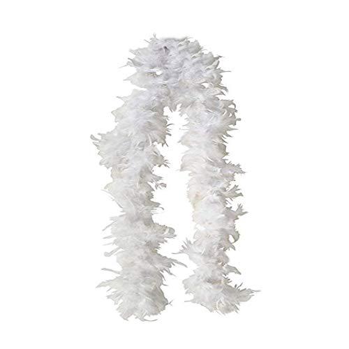 SACASUSA (TM) White Feather Chandelle Boa one size 6 feet long