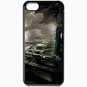 Personalized iPhone 5C Cell phone Case/Cover Skin Art Castle Bridge Army Horse Riders Black