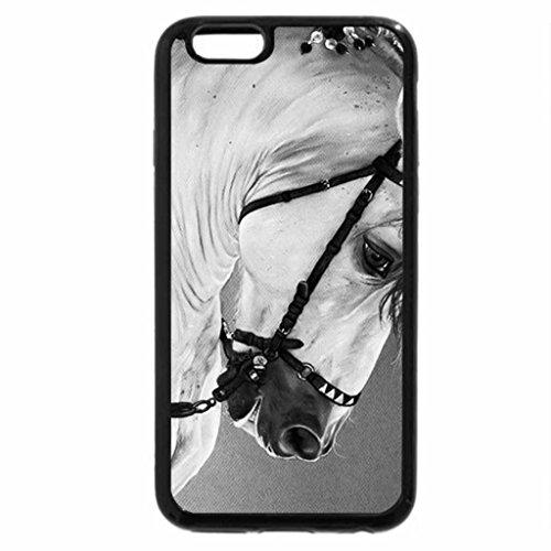 iPhone 6S Plus Case, iPhone 6 Plus Case (Black & White) - Barroque Silhouette