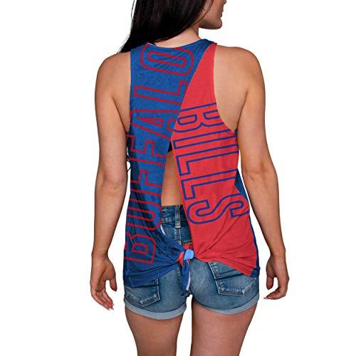 Buffalo Bills Tank - FOCO NFL Buffalo Bills Womens Tie Breaker Tank Top ShirtTie Breaker Tank Top Shirt, Team Color, Medium