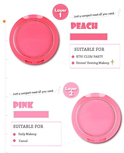 Ucanbe Waterproof 5 Colors Blusher Palette With Blush Brush by UCANBE (Image #3)