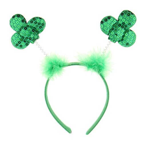 Green Sequins Shamrock Headband Saint Patrick Day Party Fancy Dress Hairband