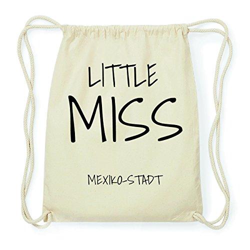 JOllify MEXIKO-STADT Hipster Turnbeutel Tasche Rucksack aus Baumwolle - Farbe: natur Design: Little Miss