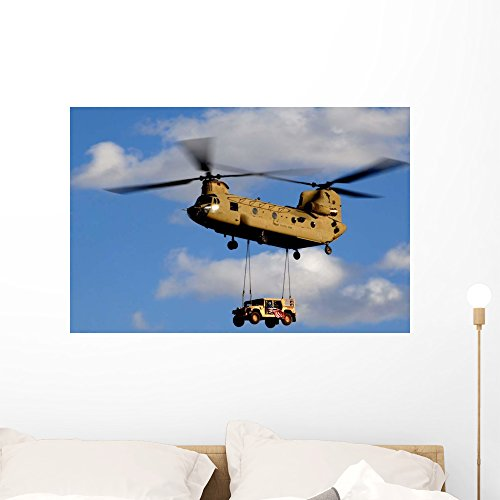 Us Army Ch-47 Chinook Wall Mural by Wallmonkeys Peel and Sti