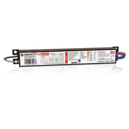 GE Lighting 74093 GE232MAX347-N 347-Volt UltraMax Electronic Fluorescent T8 Multi-Volt Instant Start Ballast 2 or 1 F32T8 Lamps ()