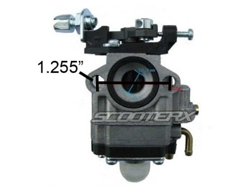 10mm Carburetor for 33cc and 36cc Gas Scooters, Pocket Bikes, Go Karts, and Mini Choppers, Go Ped