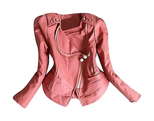 [Sweety, Girls Motorcycle Jacket Stylish Faux Leather Zipped Spring Fashion,Pink 4T] (Snow Motorcycle Jackets)