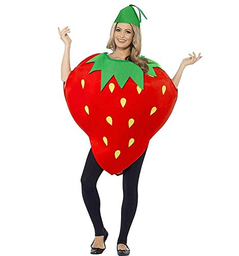 La moriposa Unisex Kids Halloween Pumpkin Strawberry Costume Dress Set Fruits Costume Suit with Hat]()